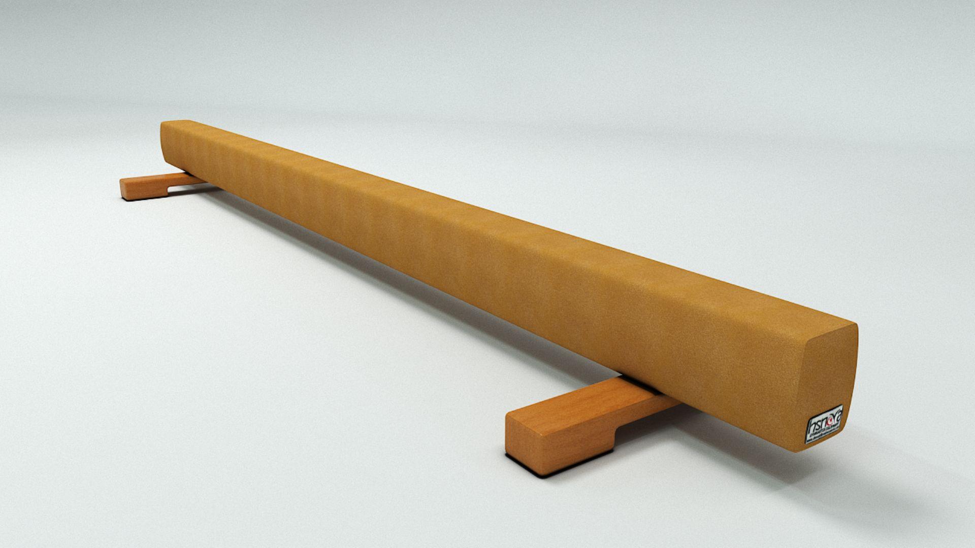 AHŞAP DENGE DERİ KAPLAMALI  (2.5 M)